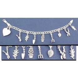 Personalized Gardener Charm Bracelet