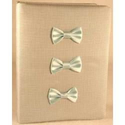 Blue and White Baby Photo Album with Bows