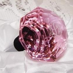 Monogrammed Pink Crystal Bottle Stopper