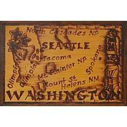 Washington State Leather Photo Album in Natural