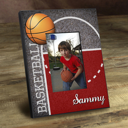 Personalized Kids Basketball Picture Frame