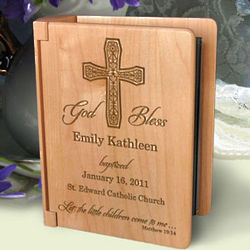 Personalized On Your Baptism Day Wooden Photo Album