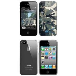 iPhone 4 Beatles Abbey Road and Clear Skins Combo Package