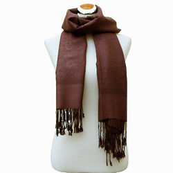 Jacquard Dark Chocolate Pashmina Wrap