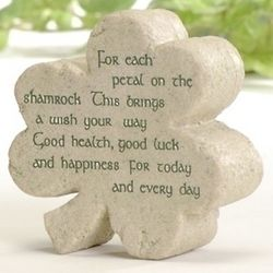 Warm Wishes Blessing Shamrock Plaque