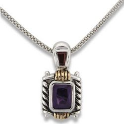 Grecian Style Necklace with Amethyst Cubic Zirconia
