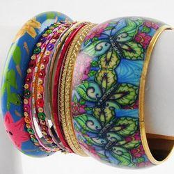 Dazzling Stackable Handpainted Bracelets
