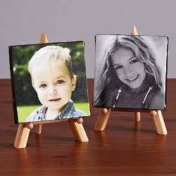 Personalized Photo Canvas with Wood Easel