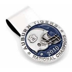 Auburn University Tigers Championship Pewter Money Clip