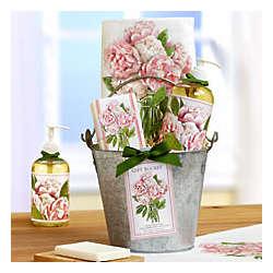 Cottage Flowers Rose Kitchen Spa Bucket