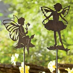 Metal Fairy Garden Stakes