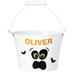 Halloween Ghost Personalized Metal Pail