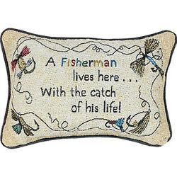Fisherman Lives Here with Catch of His Life Pillow