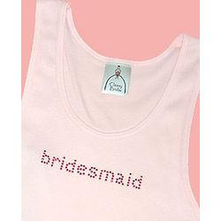 Pink Nailheads Bridesmaid Tank Top