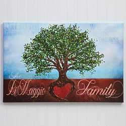 Personalized Grown In Love Family Tree Canvas Print