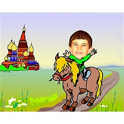 Your Photo in a Dream Vacation Caricature