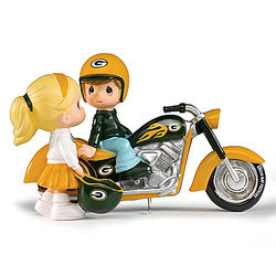 Precious Moments Green Bay Packers Motorcycle Figurine