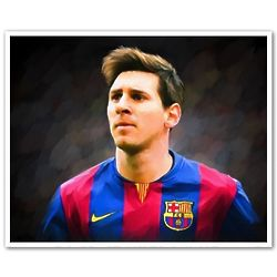 Lionel Messi 8x10 Oil Painting Giclee Print