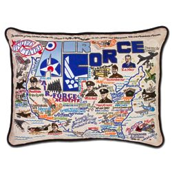 US Air Force Embroidered Throw Pillow