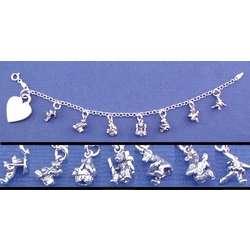 Personalized Teddy Bear Charm Bracelet