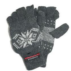 Vintage Snowflake RagWool Fingerless Gloves