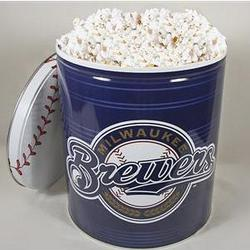 Milwaukee Brewers Popcorn Gift Tin - 3.5 Gallon