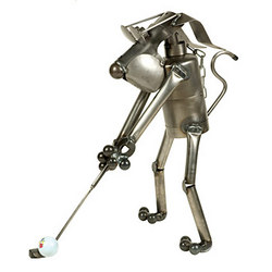 Golf Dog Sculpture
