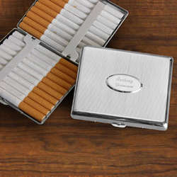 Personalized Executive Oval Front Cigarette Case