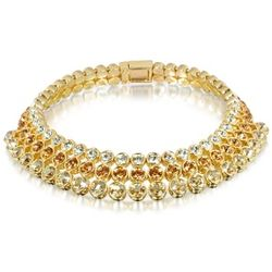 Three-tone Swarovski Crystal Choker