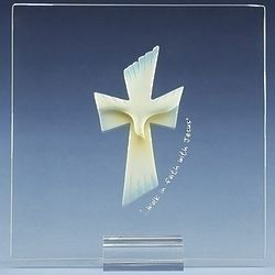 Confirmation Glass Plaque