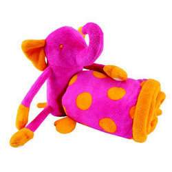 Plush Elephant Buddy Blanket