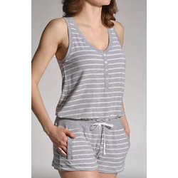 Striped Romper Pajamas