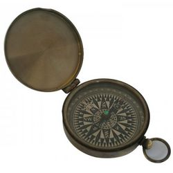 Antique Ship Compass with Lid