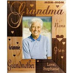 Personalized Grandma Wooden Frame