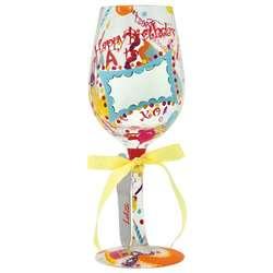 Personalize-It Birthday Wine Glass