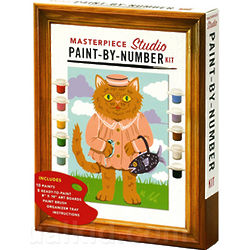Kitschy Masterpieces Paint-by-Number Kit