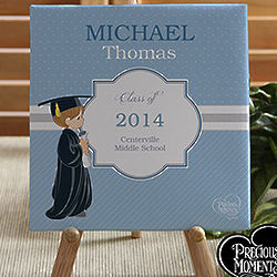 Personalized Precious Moments Graduation Canvas Art
