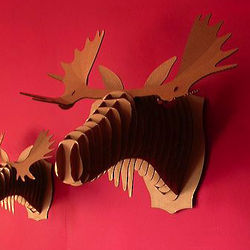 Animal Friendly Cardboard Moose Bust
