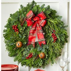 Festive Holiday Noble Fir Wreath