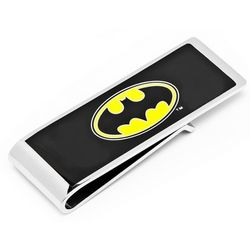 Personalized Silver-Plated Batman Money Clip