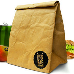Brown Paper Bag Insulated Lunch Bag