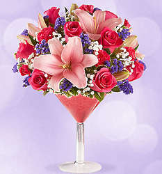 Girls' Night Out Large Martini Glass Bouquet