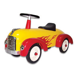 Speedster Yellow with Red Flames Car