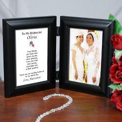 True Friends Wedding Black Bi-Fold Personalized Picture Frame