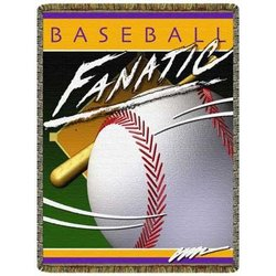 Baseball Fanatic Tapestry Throw