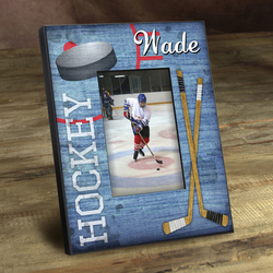 Personalized Kids Hockey Picture Frame
