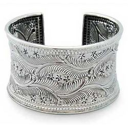 Forest Ferns Sterling Silver Cuff Bracelet