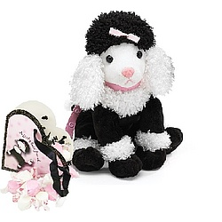 Plush Poodle with Candy Tote