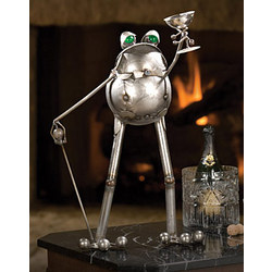 Toasting Toad Sculpture