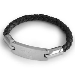 Black Leather Rope Bracelet